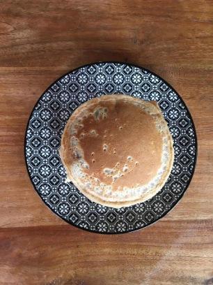 Pancakes cramberries banane