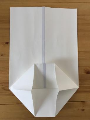 Pliage papier sac diy