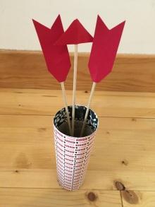 Flèches de cupidon Diy saint Valentin