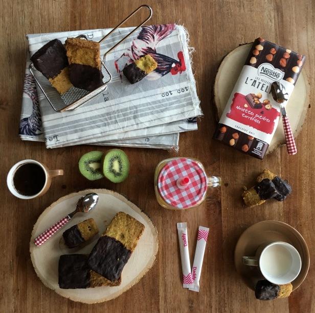 Sablés pistache chocolat