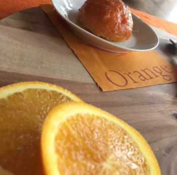 Gâteau orange glaçage abricot