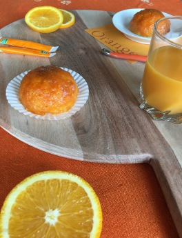 Plateau recette deco orange