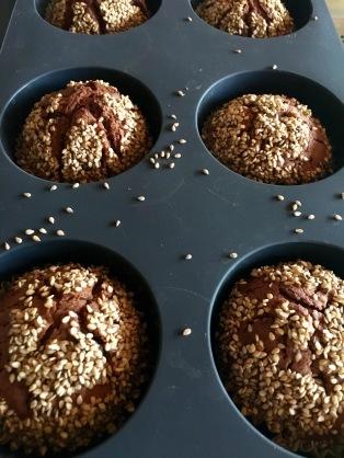 recette muffins originaux sesame menthe chocolat